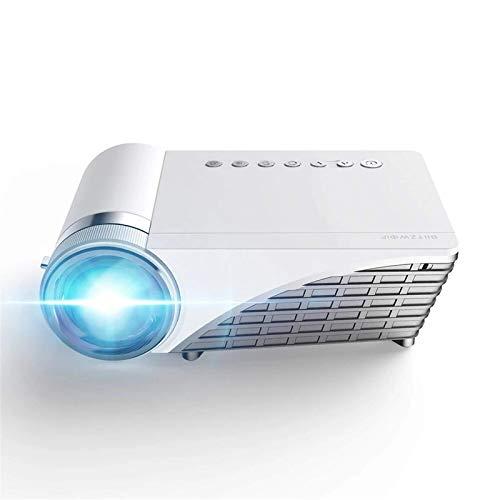 TIANYOU Proyector L2 Portátil Proyector 4500Lumens 12000Mah Batería Android6.0 1G + 8G Altavoz Hifi Bluetooth para 3D Led Beamer Support 4K Home Cinema Proyector para el Hogar Entretenimiento