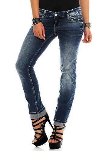 M.O.D Damen Jeans Alice Regular NOS-2004 Hüft Hose Low Waist Regular Leg MOD Neu Maryland Blue W31/L30