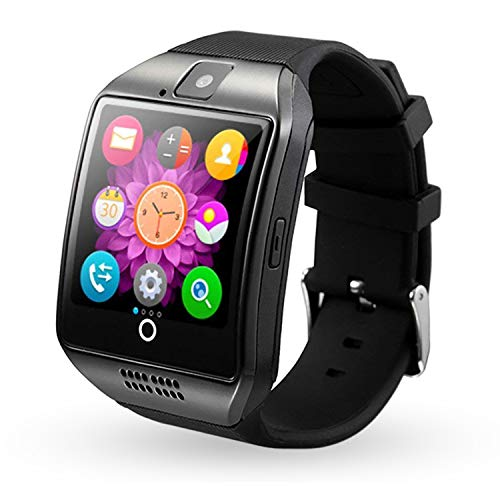 Smart Watch Bluetooth Wrist Watch Touch Screen Unlocked Watch Pedometer Sleep Monitor Fitness Tracker Compatible with Android Phones Samsung Galaxy S20 S10 S9 S8 S7 Note 10 9 Lg Men Women Boys Black