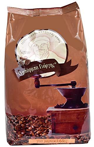 Griechischer Mokka Kaffee von Barba Giorgis | Staubfein gemahlener Kaffee | Einzigartiges Aroma | Höchste Qualität | 490g