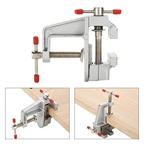 Tornillo de banco de aleación de aluminio liviano, resistente, resistente, conveniente, tamaño pequeño, tornillo de banco pequeño, mini tornillo de banco, taller de trabajo para trabajos en