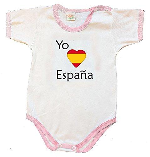 Zigozago - Body Bébé à Manches Courtes avec Broderie Espagne Taille: 3-6 Mois - Couleur: Rose