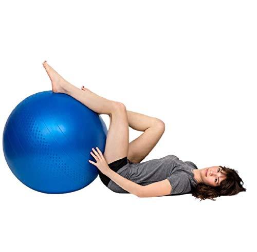 Ducomi Pelota de Gimnasia Para Yoga, Pilates de 75 cm y bolas de masaje, Entrenamiento en casa y equilibrio, Herramienta de gimnasia para abdominales, piernas y espalda, Fitball para embarazo y parto