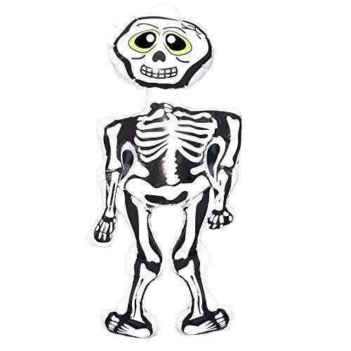 Shatchi 4 stks X Grote Opblaasbare Skeleton Halloween Decoratie Fancy Dress Party Accessoires Tuin Thuis Bar Binnen Raam Deur Scary Spooky Décor Bulk Deal Groothandel, Wit