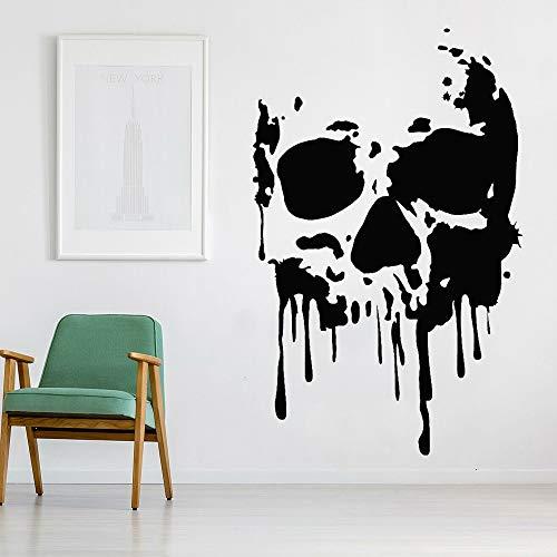 Arte calavera pared calcomanía Horror muerte monstruo pegatina habitación adolescente dormitorio decoración de vacaciones Mural adhesivo A3 65x42cm