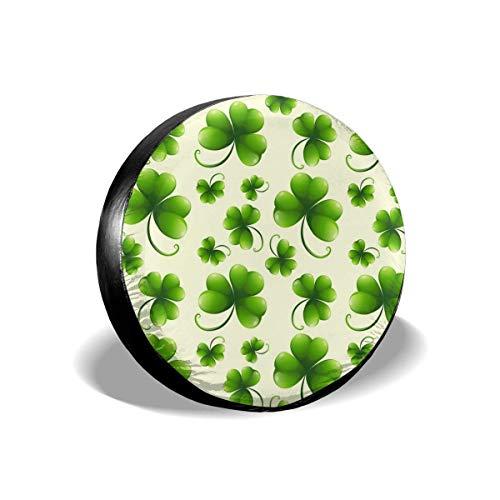 Yuanmeiju Green Clovers Spare Cubierta de Llantas, Universal Wheel Tire Protectors,Travel Car Weatherproof