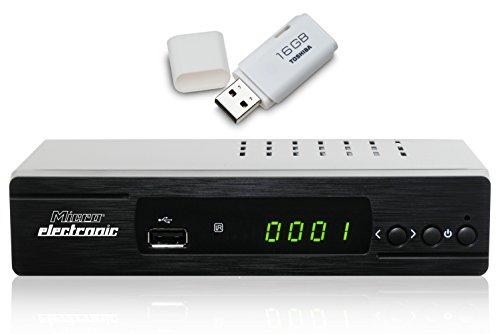 Microelectronic m310plus inkl. 16GB USB Stick HDTV Sat Receiver schwarz