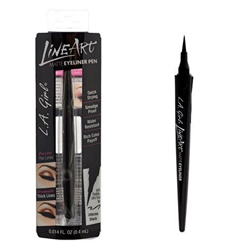 L.A. Girl Line Art Matte Eyeliner Pen-Intense Black (GLE712)