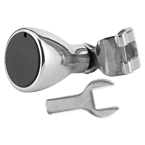 Perilla de volante, aleación de aluminio cromado, dirección, manija de perilla giratoria de rueda de 3/4'-1' para yate de barco marino