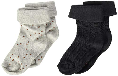 Noppies G Socks 2 Pack Inanda Calcetines, RAS1202 Harina de Avena para niña-P611, 0M-3M para Bebés