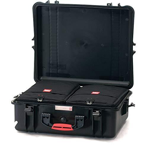 2700WDK HPRC Hard Case à roulettes (TX01, 52 litres, avec kit répartiteur) Noir