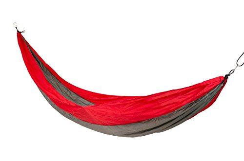 Bo-Camp - Hamac voyage - Parachute - Hover - Rouge/Gris