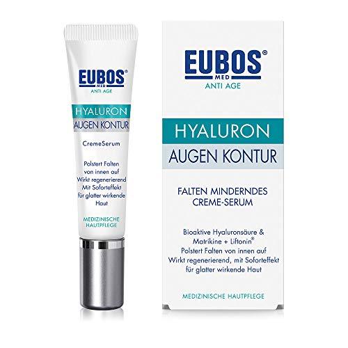 Eubos | Hyaluron Augen Kontur Creme Serum | für alle Hauttypen | Zur Faltenminderung im Augenbereich | Augenärztlich geprüft