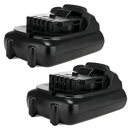 CELLONIC 2X Batería Premium 10.8V, 2Ah, Li Ion Compatible con DCR020, DCR020, DCR027, DCD710D2, DCE089, DCL040 bateria de Repuesto DCB127, DCB121,DCB123, DCB123, DCB125 Pila