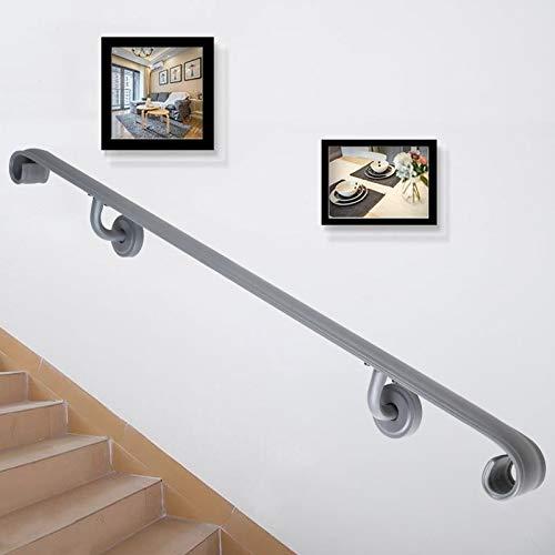 VEVOR Pasamanos Escalera 121.9 cm Barandilla Escalera 121.9 cm Pasamanos para Escaleras Pasamanos de Pared Montaje en Pared Hierro Forjado Mate Gris