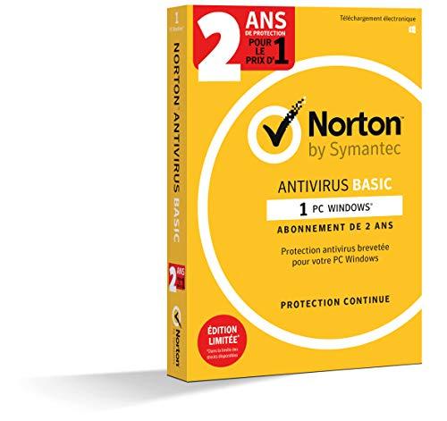 Norton Antivirus Basic 2019 | 1 Appareil | 2 ans | PC | Téléchargement