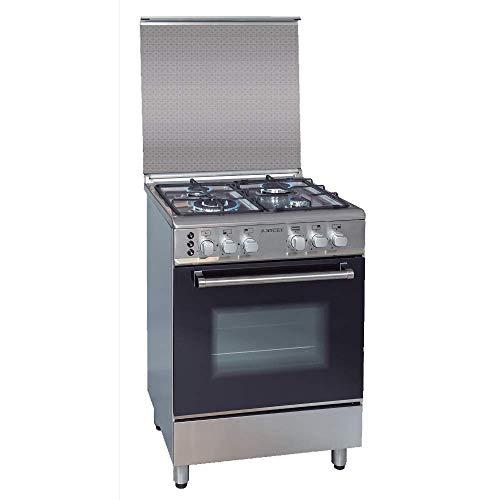 Cocina a Gas Jocel JFG4I007339, 4 quemadores, horno de 80L, Inox