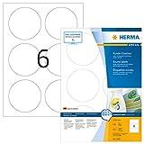 Herma 4478 - Pack de 600 etiquetas, diámetro 85 mm, color blanco