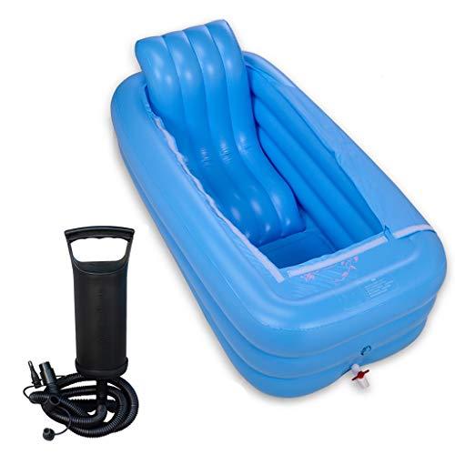 Stoombad voor zwembad, sauna, opblaasbare badkuip voor vrouwen, rechthoekig dik, badkuip met pomp