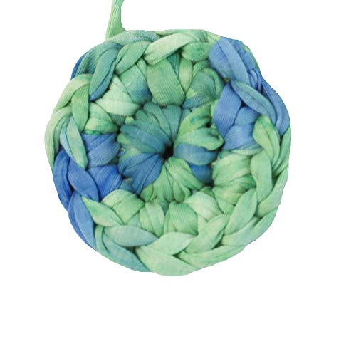 Clisil DIY T-Shirt Yarn Bulky Fettuccini Zpagetti Style Elastic Strong Cloth T Shirt Trapillo Yarn Ball for Knitting Sewing Crocheting Bags Bowls DIY Handicraft and Home Décor Projects180g