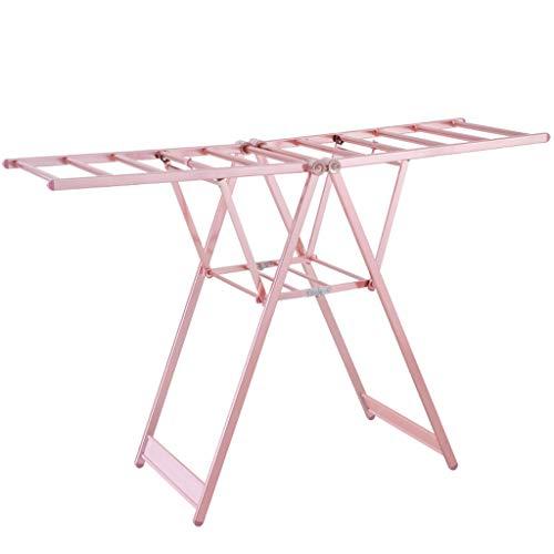ZXW Tendedero- Balcón de aleación de Aluminio Interior y Exterior, tendedero Plegable, Estante de Secado de pañales para bebés (Color : Pink, Tamaño : 97x130cm)