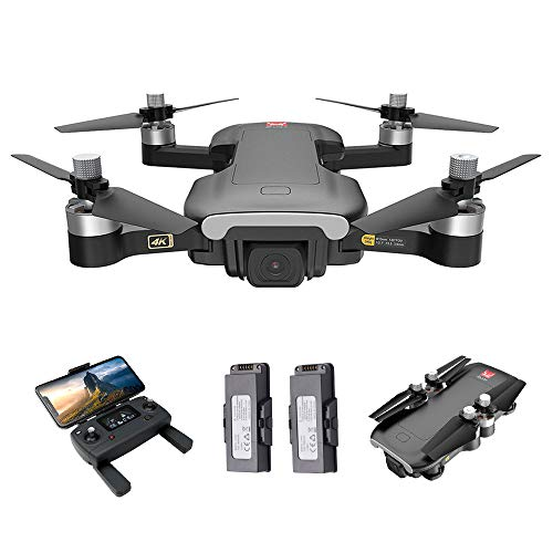 GoolRC GPS Drone with Camera for Adults, MJX Bugs 7 B7 RC Drone with 4K HD Camera, 5G WiFi FPV RC Quadcopter with Brushless Motor, Optical Flow Positioning, Track Flight, Follow Me and 2 Batteries