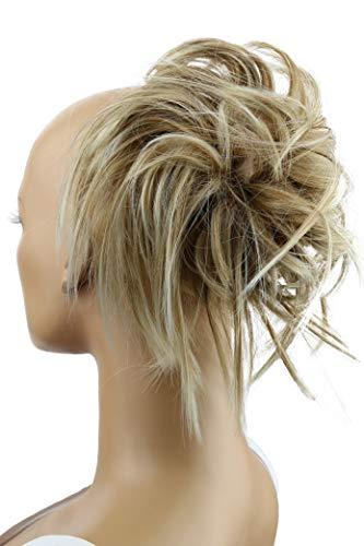 PRETTYSHOP XXL Haarteil Haargummi Hochsteckfrisuren Brautfrisuren Voluminös Gewellt Unordentlich Dutt Blond Mix G13F