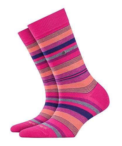 BURLINGTON Damen Socken Stripe - 80% Baumwolle, 1 Paar, Rosa (Fuchsia 8856), Größe: 36-41
