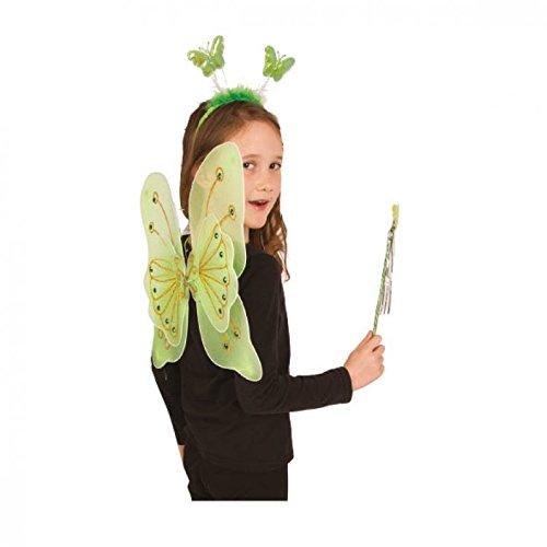 Papillon en vert Lot de 3 Pièces Pour Les Enfants/aile Accessoire de costume Elfe/Fée Ailes/aile de papillon