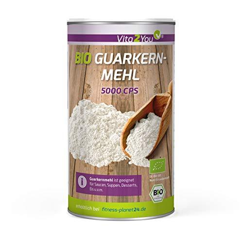 Guarkernmehl Bio 250g - 5000CPS höchste Bindekraft - Glutenfrei - Bindemittel - Guar Gum Pulver - Vegan und ökologisch - Premium Qualität