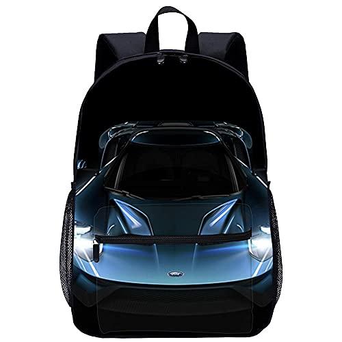 3D Escolar Mochila con Bolso de Escuela Adolescente -Forza Motorsport 6-Adecuado para: estudiantes de primaria y secundaria, la mejor opción para viajes al aire libre-Tamaño: 45x30x15 cm / 17 pulga