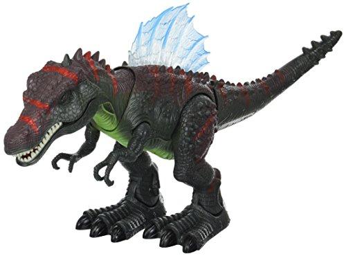 Velocity Toys Dinosaurio Century Spinosaurus Funciona con Pilas de Juguete Dinosaurio Figura w/Realista Movimiento, Luces y Sonidos (los Colores Pueden Variar)