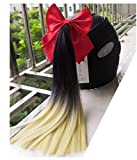 3T-SISTER Trecce per Casco con Fiocco Nodo 14 Pollici Coda di Cavallo Decorazione per Moto Accessori per Casco da Sci da Bicicletta Bicchiere Riutilizzabile Ventosa Design