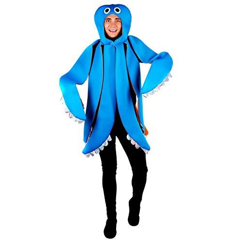 Fun Shack Azul Pulpo Disfraz para Hombres y Mujeres - Un Tamaño