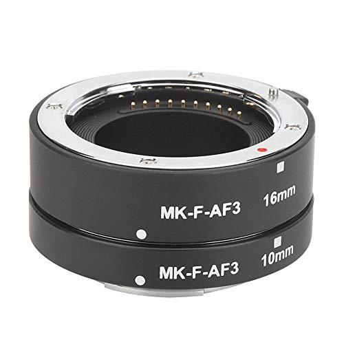 Anello per Obiettivo Macro, MK-F-AF3 Tubi di prolunga per Anello Macro Obiettivo in Metallo Compatto Leggero 10 mm 16 mm, Supporto Full Frame, per Fotocamere mirrorless Serie Intera per Fuji X