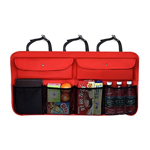 Bolsa de guardaequipaje de equipaje de automóviles Impermeable y de patada Almacenamiento a prueba de automóviles Dispositivo de protección contra respaldo del asiento, caja de almacenamiento de viaje