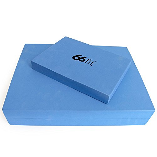 66fit Pilates Sitting & Head Block Set - High Density Yoga Foam Brick Positioning Bricks