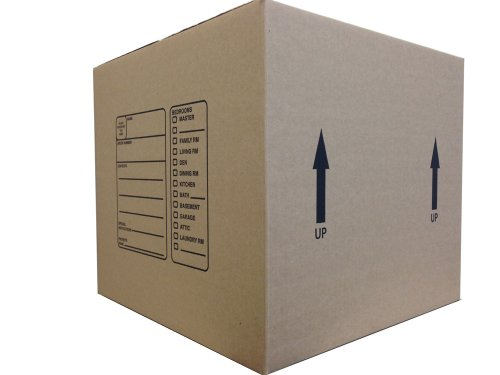 The Boxery BX181816 18 x 18 x 16 Inches Genuine Medium Moving Boxes, Pack of 10 Photo #3