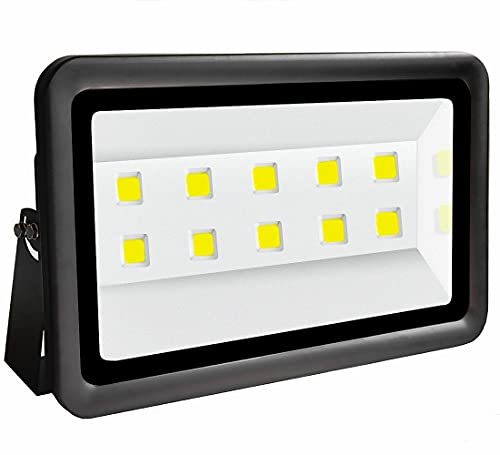 Led floodlight 500W, Outdoor Waterproof IP66, Jiuding Super Bright 6000K, Sunlight White, Including Waterproof Power AC85-265V Engineering lamp, Used for Courtyard and Playground Lighting