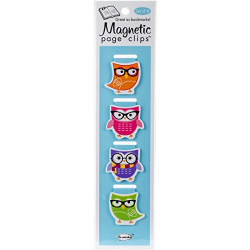 Woodsy Owls Illustrated Magnetic Page Clips Set of 4 by Re-marks