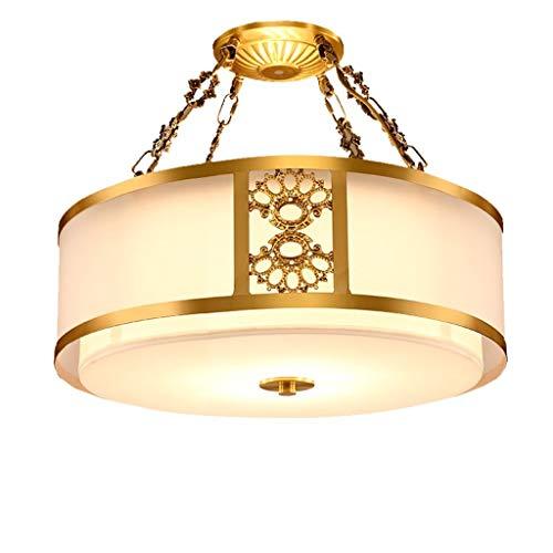 JYDQM Luz de Techo, el Techo del hogar clásico incrustado Semi-Estudio de la lámpara de la lámpara de Techo Dormitorio Dormitorio