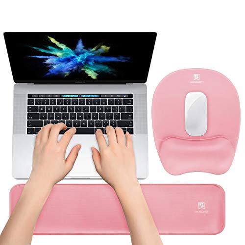 Memory Foam Set Keyboard Wrist Rest Pad & Mouse Wrist Rest Support,Ergonomic Design for Office,Home Office,Laptop,Desktop Computer,Gaming Keyboard - Pink