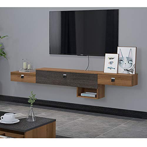 Wandmontage TV kast Met lade Wandplank Zwevende plank boekenplank fotospeelgoed Display Ledge Set top box router Shelf TV console TV stand TV board, 180cm
