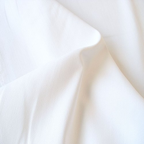 TOLKO 50cm Baumwollstoffe für Hose Gardine Tischdecke Sonnenschutz | Baumwolle als Kleiderstoff/Dekostoff Bezugsstoff | weicher Baumwoll-Nesselstoff zum Nähen/Dekorieren Meterware 160cm breit (Weiß)