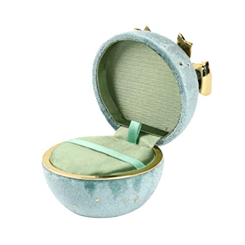 LA TALUS Ring Jewelry Storage Box Gift Box, Starry Sky Round Bowknot Ring Necklace Pendant Display Case Jewelry Storage Box 02 Cyan Green-02