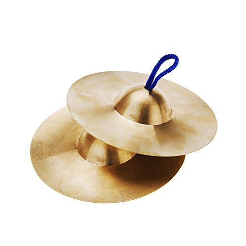 ammoon 15cm / 5.9in Mini Pequeño Cobre Platillos Mano Gong Band Rhythm Beats Instrumentos Musicales Juguete de Percusión para Niños