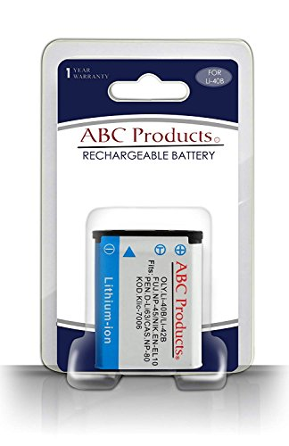 ABC Products® Reemplazo Olympus Li-40b / LI-42b Batería Recargable para Seleccionar Mju/Stylus/Tough cámara Digital (Modelos enumerados a continuación)
