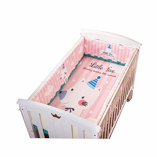 Pare-chocs pour lit de bébé, kit amovible Literie pour bébé Literie multi-pièces en coton anti-collision, 130 * 70, Costume cinq pièces