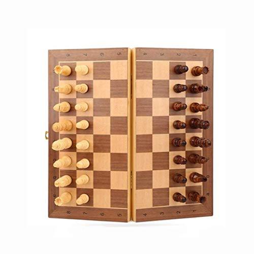 Teri Scacchiera Magnetschach, Massivholzschach Set, Klappschachbrett, High-End-tragbares Schach, geeignete Festliche Geschenke Weihnachtsschach Scacchi (Color : Large)
