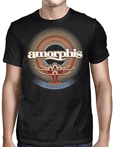 Camiseta de manga corta para hombre Amorphis Music Rock Tee mujeres Hiphop Graphic Funny Shirts